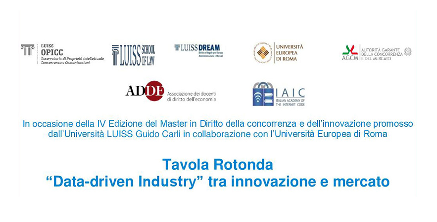 Tavola Rotonda Data Driven Industry