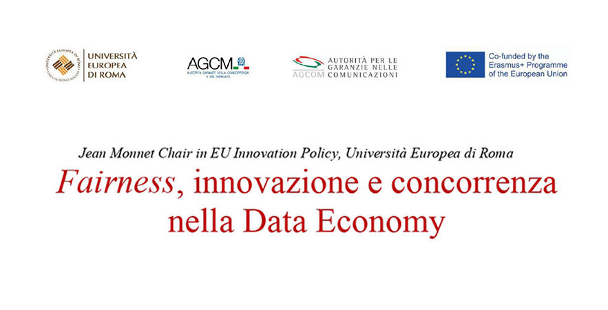 """Fairness, Innovation And Competition In The Data Economy"". On March 12, The Study Day At The European University Of Rome"